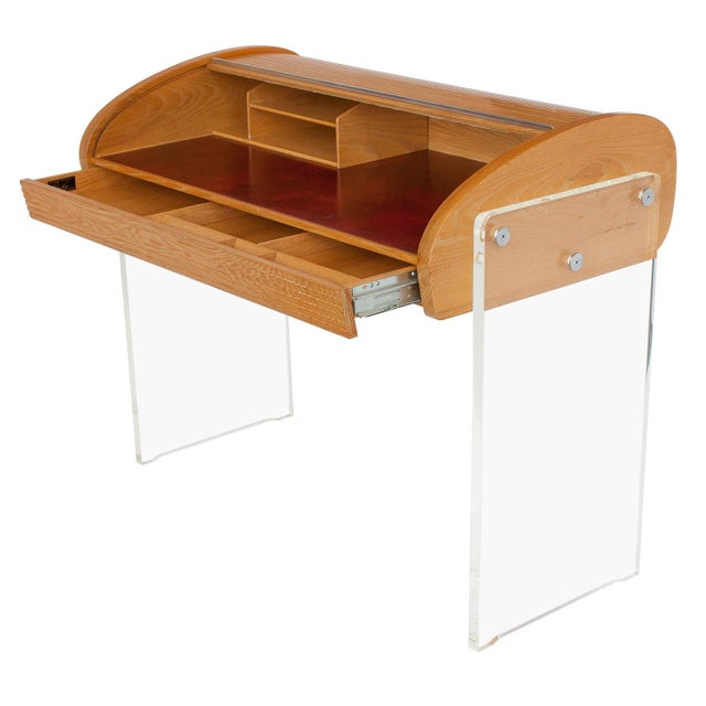 Vladimir Kagan Roll Top Writing Desk - Image 2 of 10