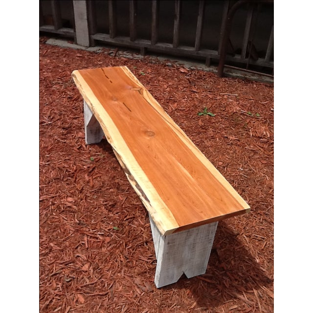 Rustic Red Cedar Bench - Image 2 of 5