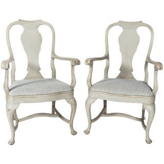Pair of Baroque-Style Armchairs For Sale