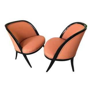 1950s Mid-Century Modern Harvey Probber Slipper Chairs - a Pair For Sale
