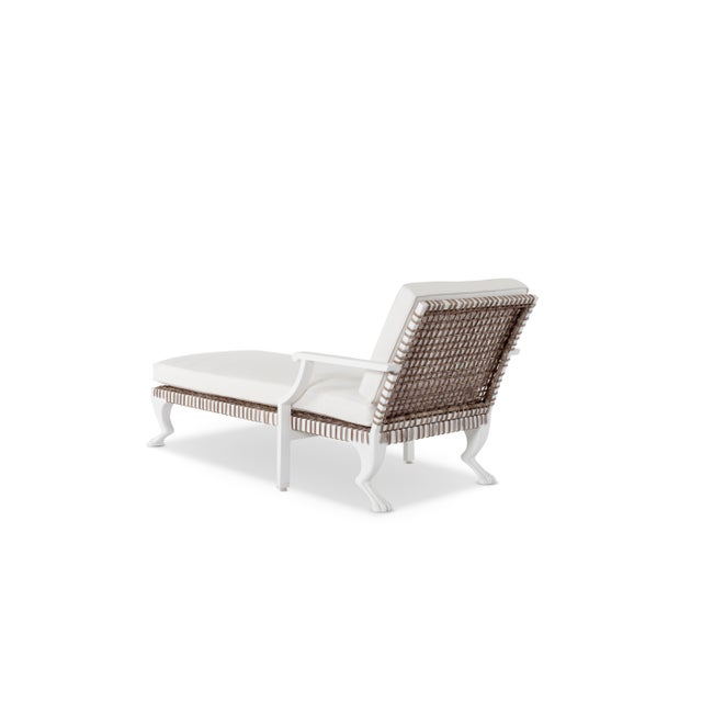Delta Tau Chaise Lounge in White For Sale - Image 4 of 7