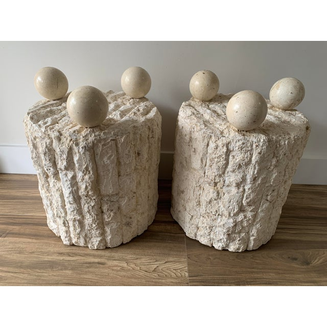 Late 20th Century Mactan Stone Side Tables - a Pair For Sale - Image 12 of 12