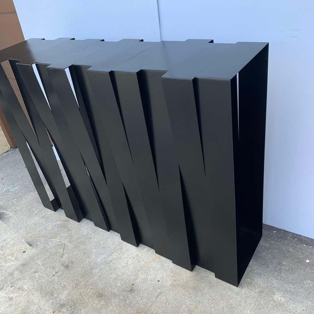 Metal Modern 'Structure 12' Console by Stephane Ducatteau, France, 2008 For Sale - Image 7 of 9