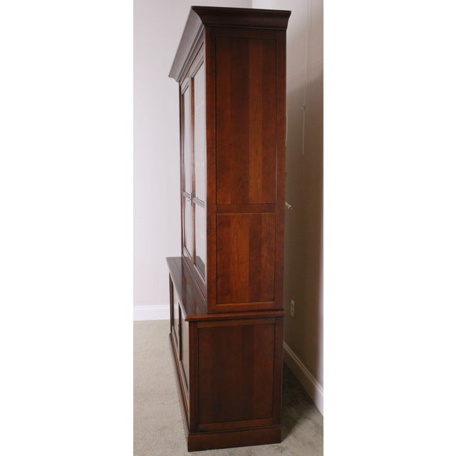 Grange Grange French Cherry Louis Philippe Style Bookcase Cabinet For Sale - Image 4 of 13