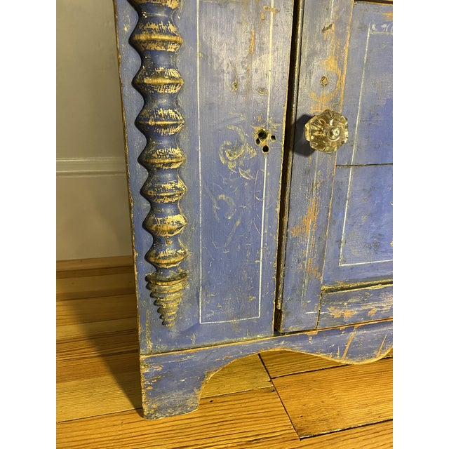 Rustic European Antique Swedish Commode or Chest With Original Paint For Sale - Image 3 of 13