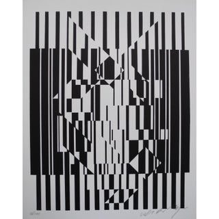 Pop Artist Victor Vasarely Black and White Optical Prints Preview