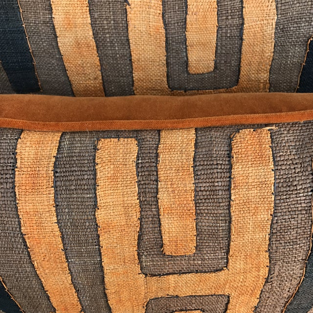 African Kuba Cloth Pillows - A Pair - Image 5 of 5