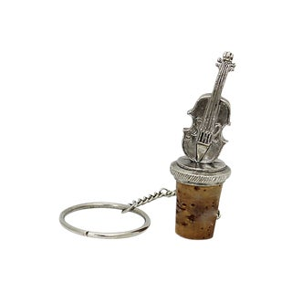 Silver-Plate Cello Wine Stopper For Sale