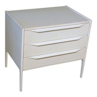 Contemporary Teak 3-Drawer Nightstand For Sale