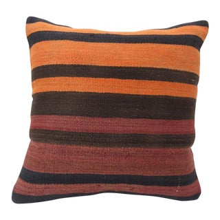 Vintage Turkish Kilim Pillow Cover For Sale