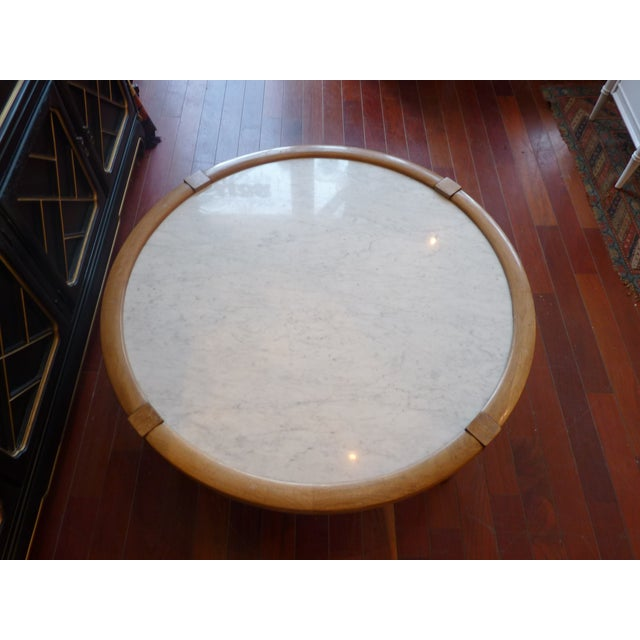 Mid Century Modern Marble Coffee Table - Image 9 of 9