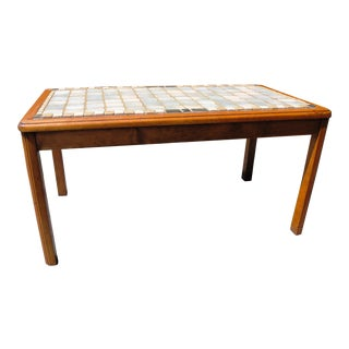 Mid Century Modern Tile Top Coffee Table For Sale