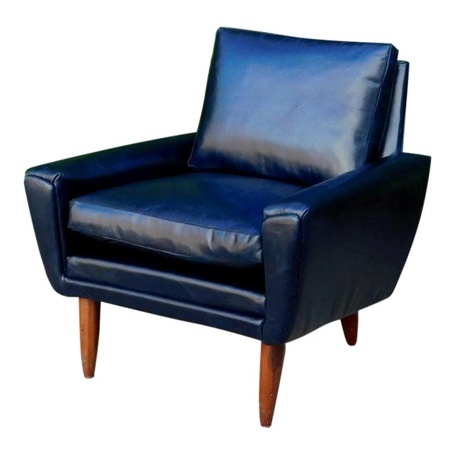 Mid-Century Leather Chair For Sale