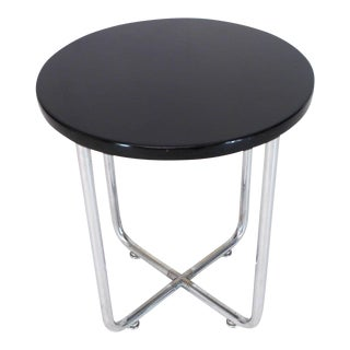 Josef Hofmann Art Deco Bauhaus Round Side Occasional Table Stand For Sale