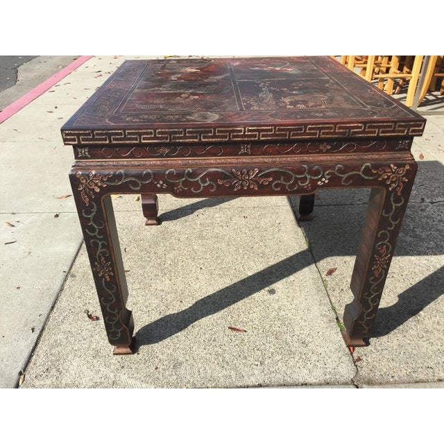 Baker Furniture Chinoiserie Side Table - Image 5 of 8