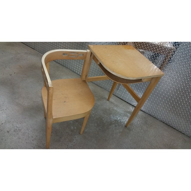 Vintage Superior Swing Out Chair & Telephone Desk - Image 3 of 6
