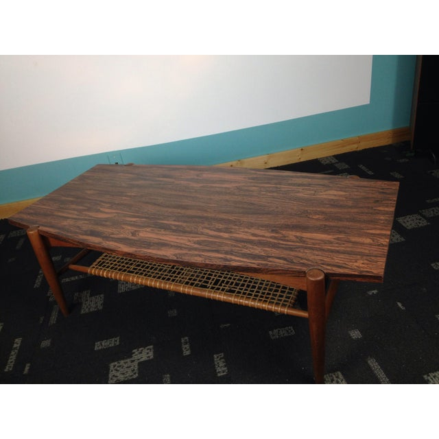 Danish Modern Mid Century Danish Modern Dux Coffee Table Folke Ohlsson For Sale - Image 3 of 12