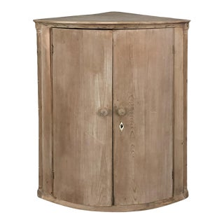 19th Century Swedish Stripped Pine Corner Cabinet For Sale