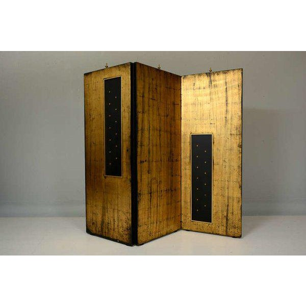 Modern Arturo Pani Parchment & Gold Leaf Screen For Sale - Image 3 of 3