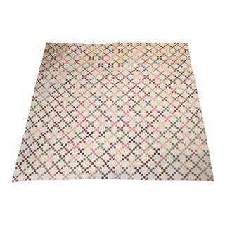 19th Century Mini Postage Stamp Chain Quilt For Sale