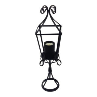 Black Wrought Iron Candle Lantern