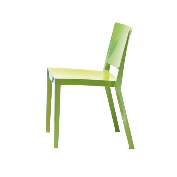 Authentic Green Kartell Lizz Chairs - Pair - Image 3 of 4