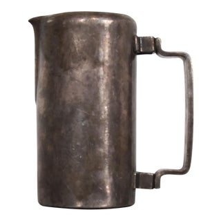 Cream Pitcher Sterling Plated, Meneses Bros of Spain, Midcentury Modern 1950s For Sale