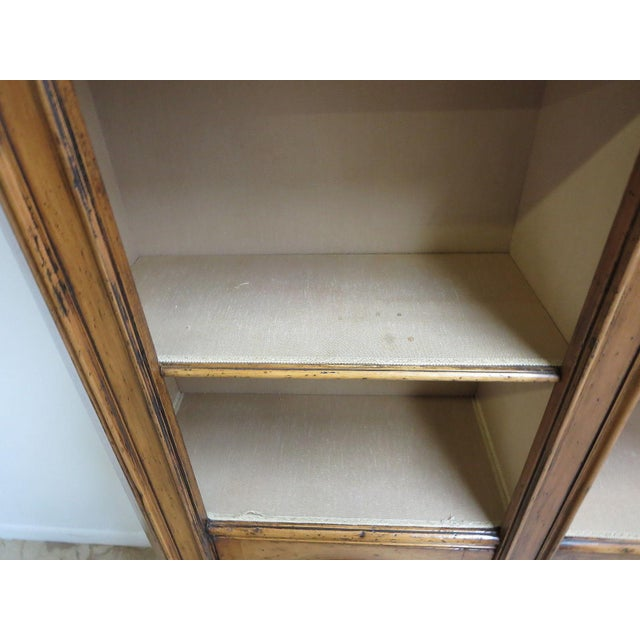 Italian Vintage Italian Monumental 3 Piece Custom Bookcase China Cabinet Hutch For Sale - Image 3 of 10