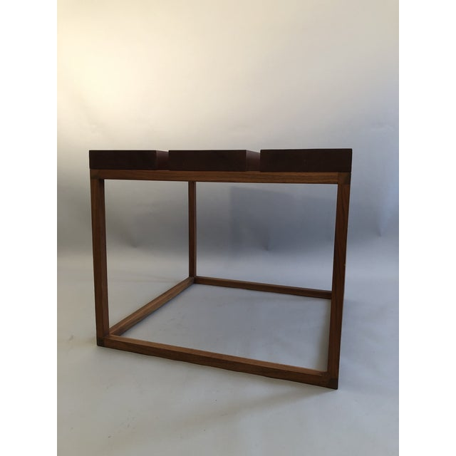 Mahogany Robert Bristow 3 Block Table For Sale - Image 7 of 9