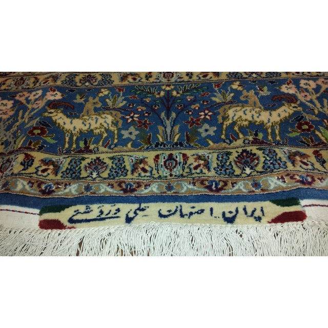 """1950s Exceptional Vintage Isfahan Rug 5'7"""" x 8'9"""" For Sale - Image 5 of 5"""