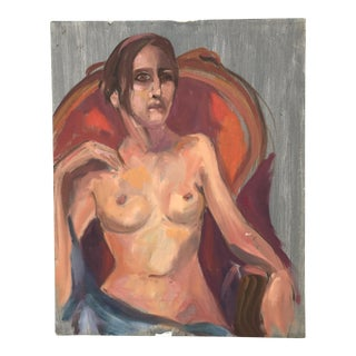 Nude Portrait Painting of a Lady For Sale