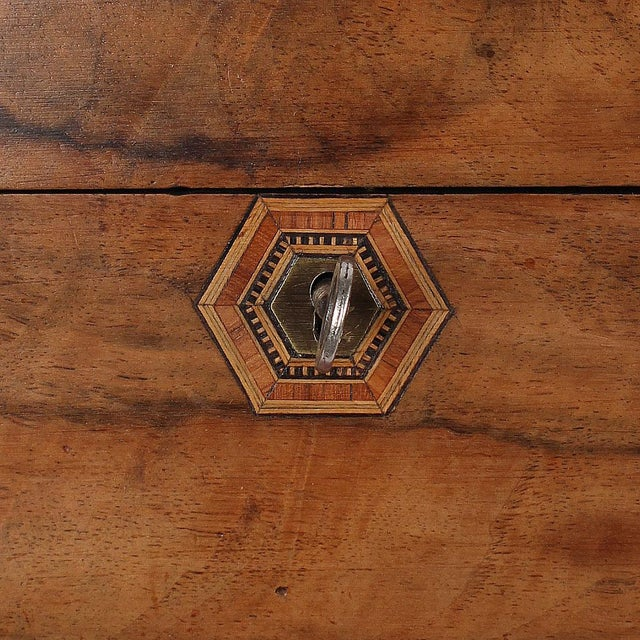 Brown 19th C. English Box With Exquisite Marquetry For Sale - Image 8 of 11