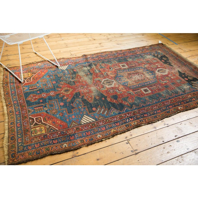 "Antique Hamadan Rug - 4'9"" X 7'11"" - Image 9 of 13"