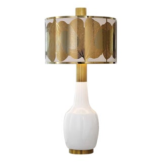 Mic Century Modern Brass Detailed Lamp For Sale
