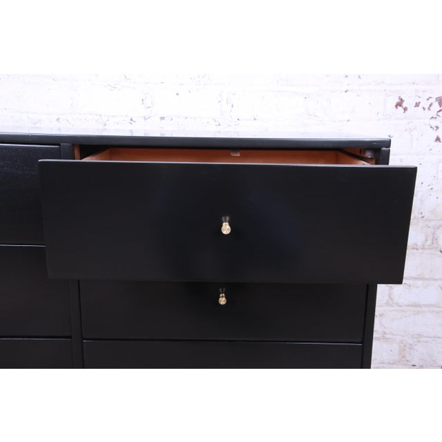 Paul McCobb Planner Group Ebonized Six-Drawer Dresser, Newly Restored For Sale In South Bend - Image 6 of 11