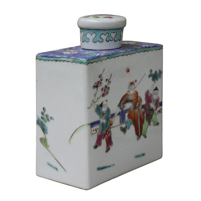 Chinese Colorful Porcelain Tea Jar - Image 2 of 6
