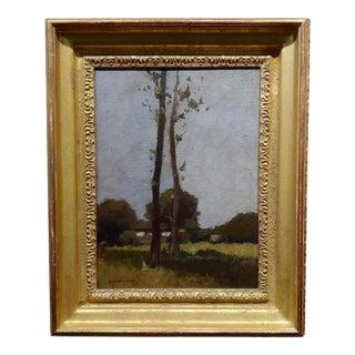 William J. Kaula New Hampshire Cottage Landscape Oil Painting C.1930s For Sale