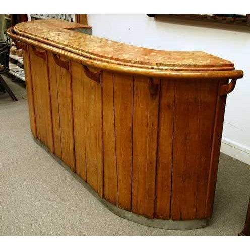 1930s French Art Deco Oak Bar - Image 10 of 10