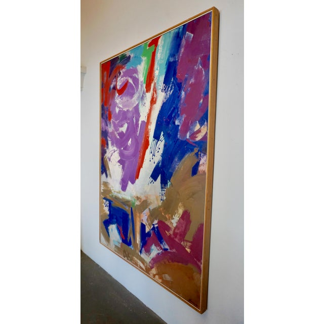 1960s Large Abstract Painting by Erle Loran For Sale - Image 5 of 7