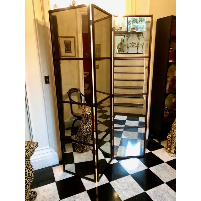 3-Panel Mirrored Floor Screen   Chairish
