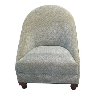 Sage Green Fabric With Loose Seat Cushion Barel Back Lounge Chair