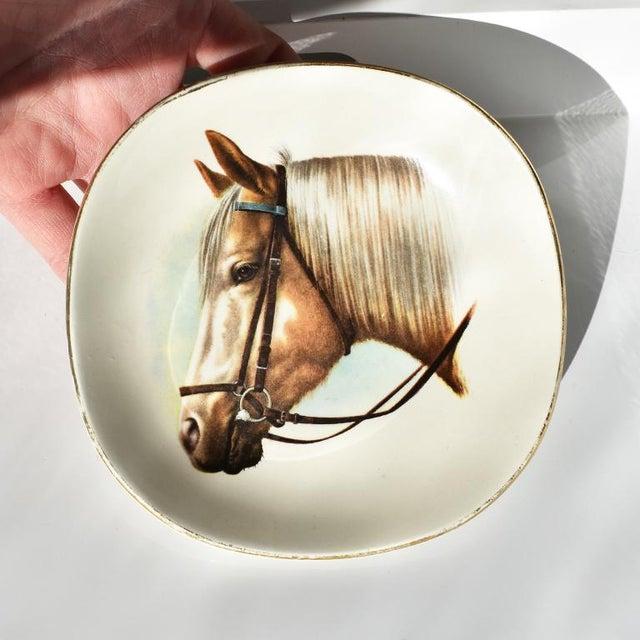 Equestrian Style Ceramic Horse Vide-Poche Decorative Dish or Catch All For Sale - Image 10 of 10