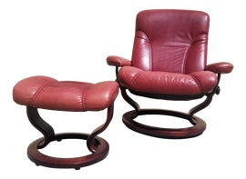 Image of Danish Modern Chair and Ottoman Sets