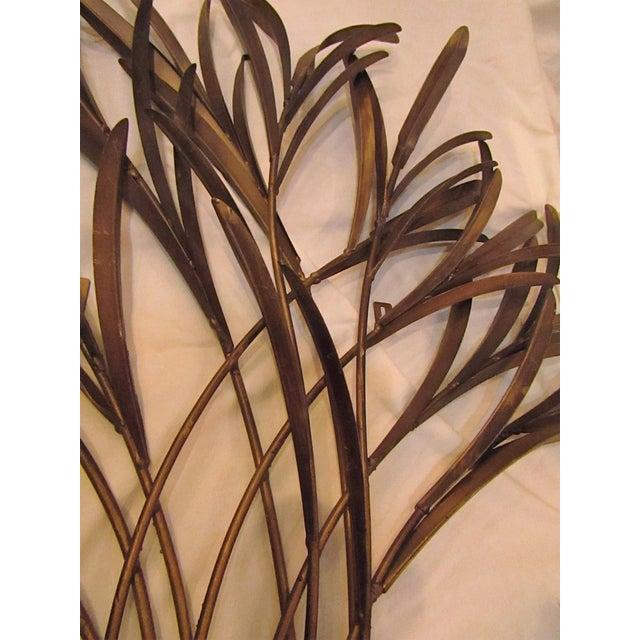 Decorative Bound Leaf Sculptures - Pair - Image 3 of 4