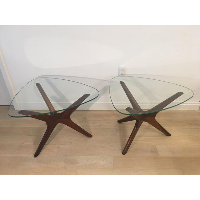 Mid-Century Modern Adrian Pearsall Tri-Symmetric Occasional Tables - a Pair For Sale In New York - Image 6 of 6