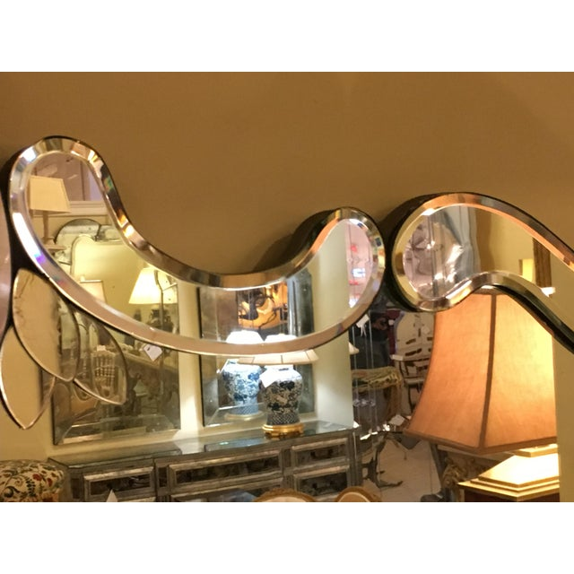 Venetian Style Over Mantle or Console Mirror For Sale - Image 5 of 8
