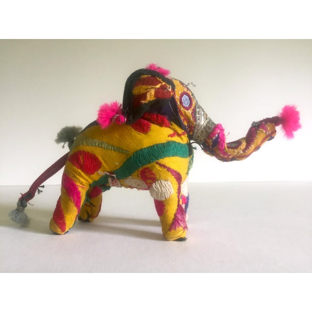 Vintage Indian Patchwork Elephant Figurine For Sale - Image 11 of 11