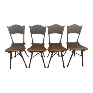 Antique Thonet Garden Chairs - Set of 4 For Sale