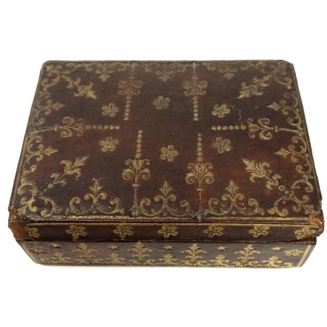 Mini Fleur-de-Lis Leather Box - Image 2 of 10