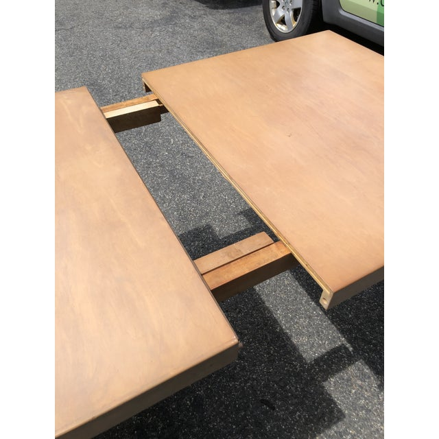 Mid Century 1940s Finnish Birch Extention Dining Table by Alvar Aalto for Artek For Sale In Boston - Image 6 of 13